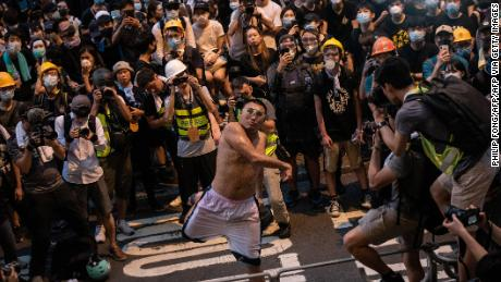 Hong Kong protester jails 21 months in prison for throwing eggs as city's judiciary under pressure