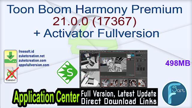 Toon Boom Harmony Premium 21.0.0 (17367) + Activator Fullversion