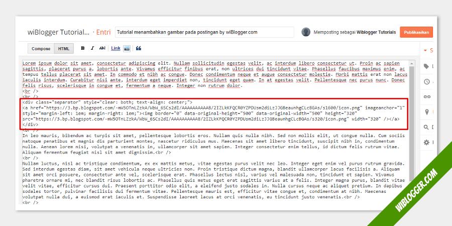 Cara memasukkan gambar kedalam postingan blog