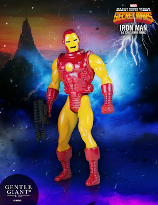 "Marvel's Secret Wars Iron Man 12"" Jumbo Vintage Action Figure by Gentle Giant"