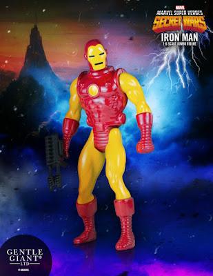 "Marvel's Secret Wars Iron Man 12"" Jumbo Vintage Action Figure by Gentle Giant"