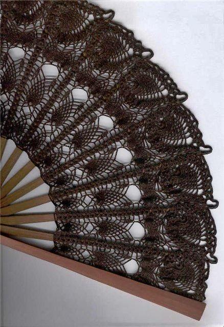 crochet hand fan