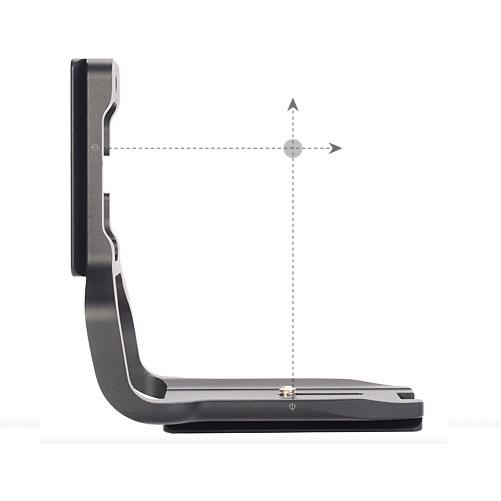 Sunwayfoto PCL-6DG Custom L Bracket centering marks illustration