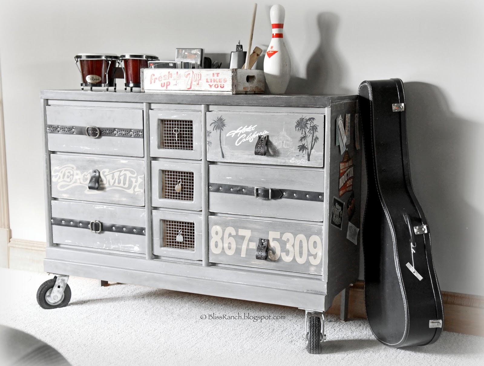 Teen Boy Rock and Roll Dresser Bliss-Ranch.com