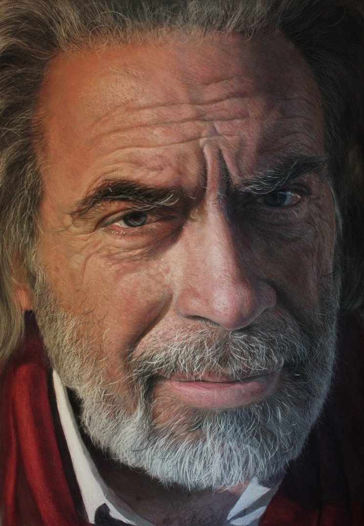 09-Maurizio-Drawings of Fictional Characters in Pastel on Wooden Canvas