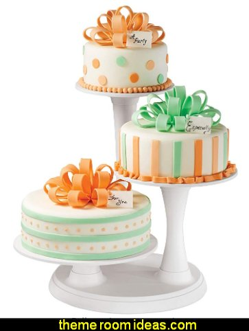 3-Tier Pillar Style Cake and Dessert Stand party table decorations