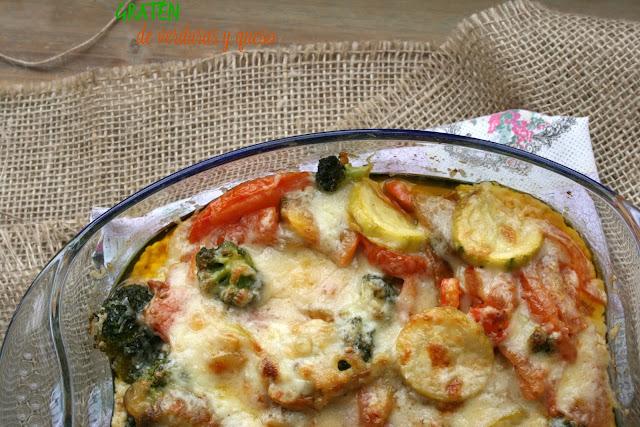 Gratén de verduras y queso