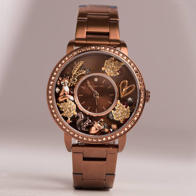 Chocolate Signature Living Locket Watch by Origami Owl available at StoriedCharms.com