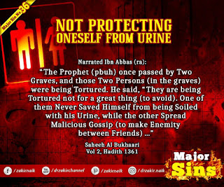 MAJOR SIN. 36. NOT PROTECTING ONESELF FROM URINE