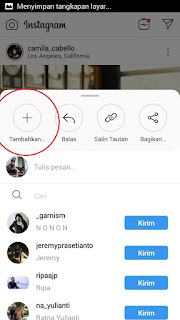 membagikan postingan feed ke stories