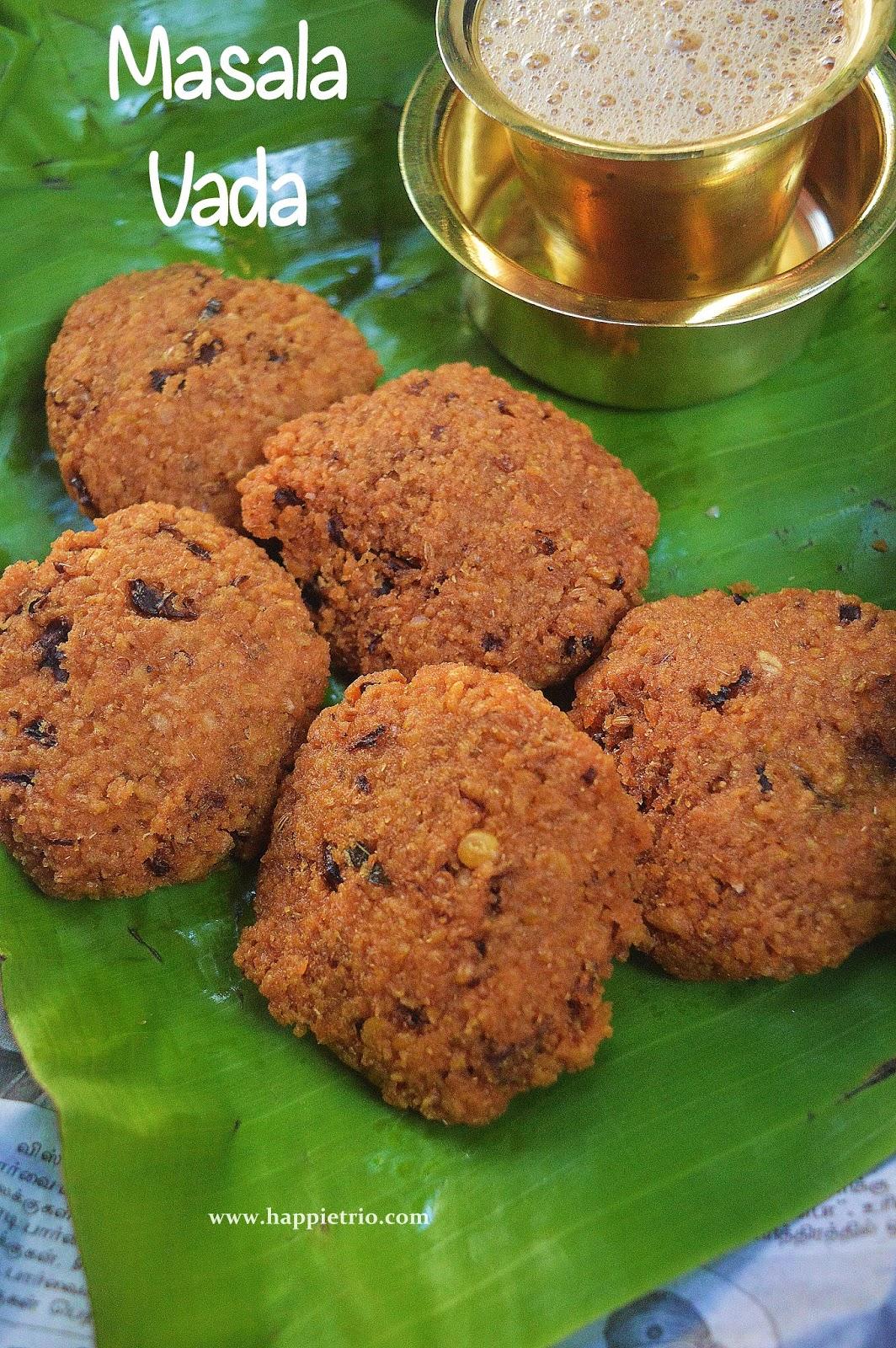 Masala Vada Recipe | Paruppu Vadai Recipe | Channa Dal Vada