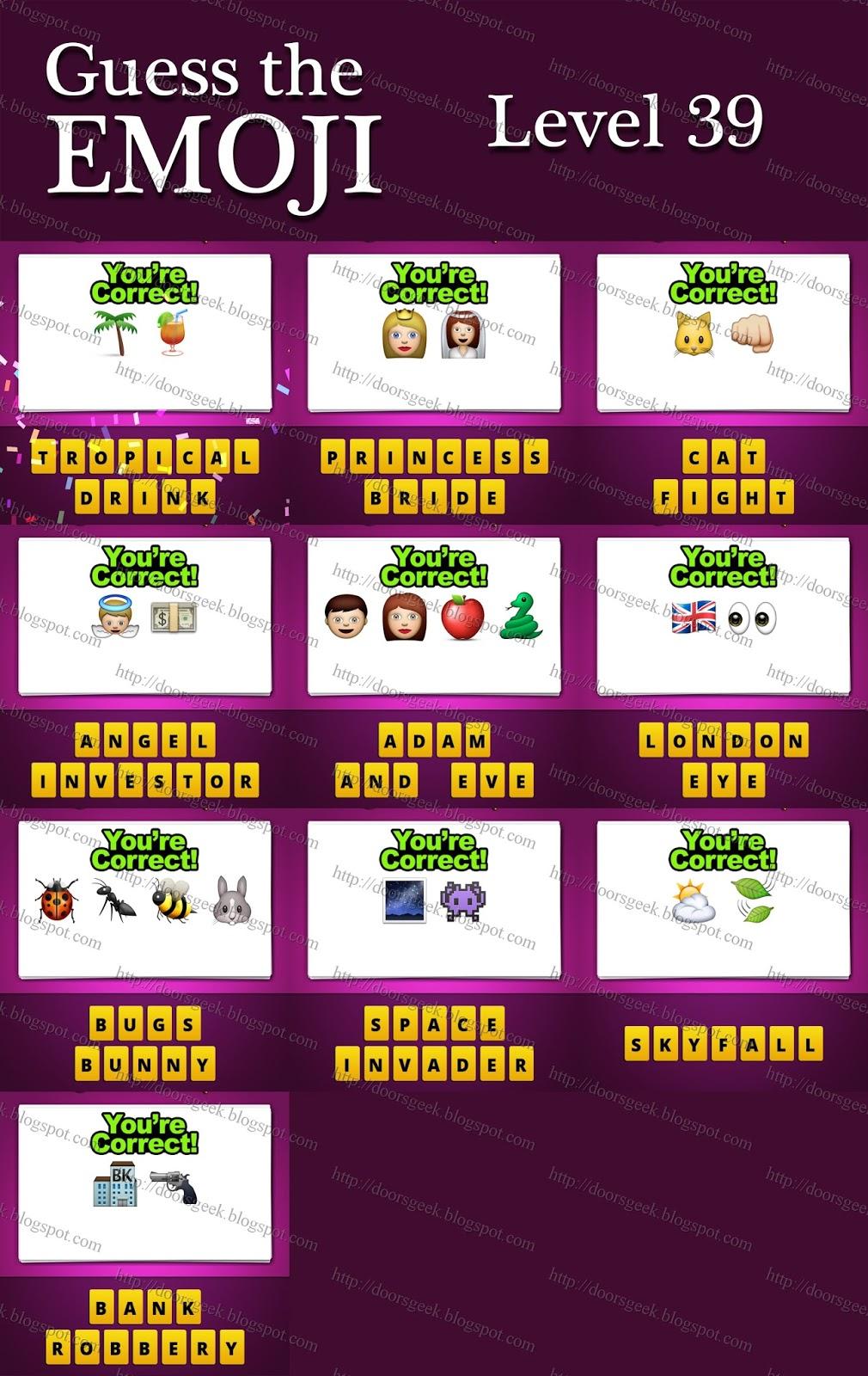 Level 39 Guess The Emoji Guess The Emoji...