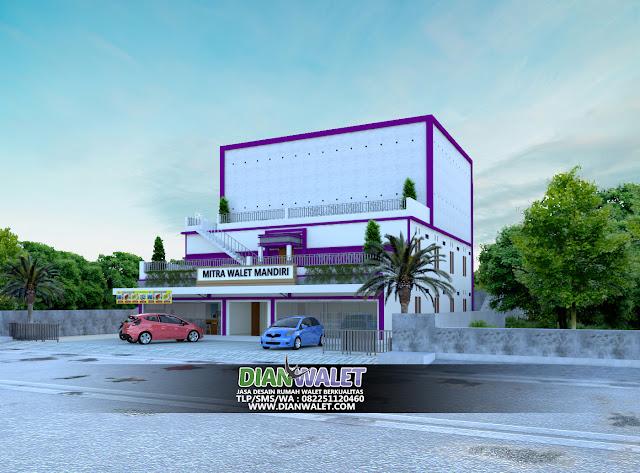 Contoh Desain Rumah Walet di Atas Toko 4 Lantai