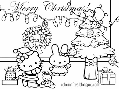 Girls Easy Clipart Fun Coloring Pages For Teenagers Hello Kitty Christmas Drawing Pictures Free Art
