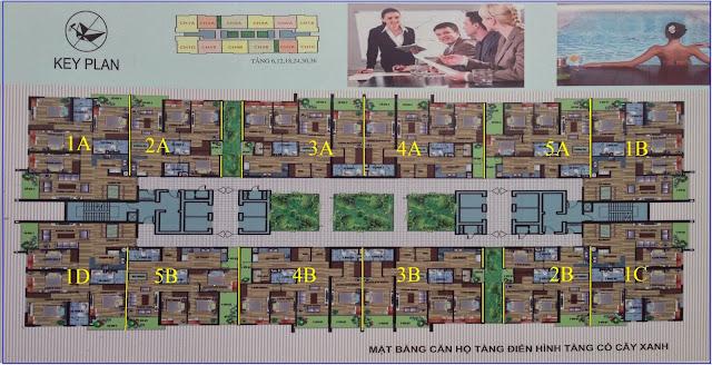 Mặt Bằng dự án chung cư CT4 Vimeco