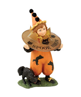 Bethany Lowe Spook Boy Halloween Clown, vintage style trick or treat figure