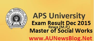 APS University exam results 2016 - aunewsblog