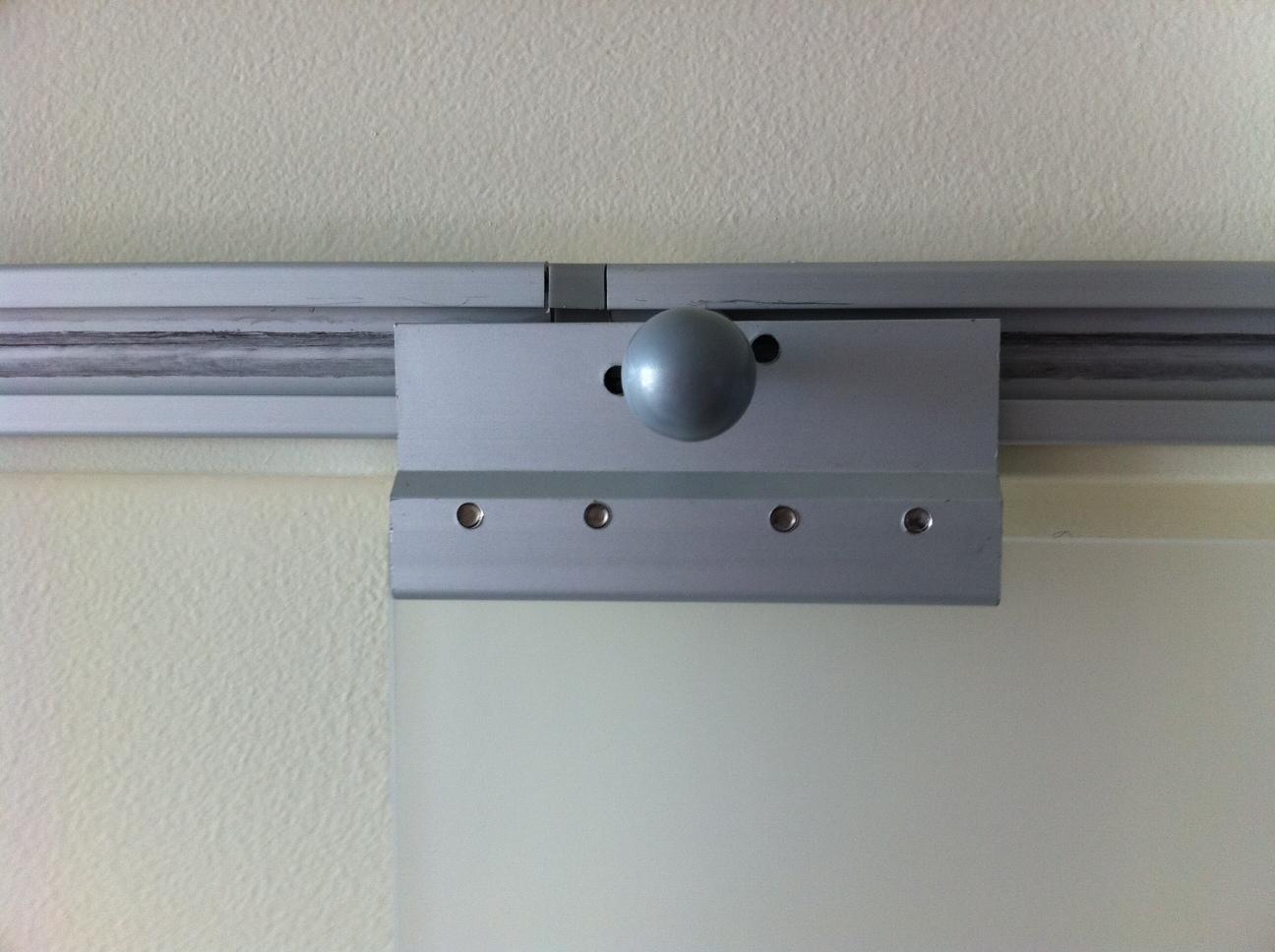 turn pax rails into sliding doors get home decorating. Black Bedroom Furniture Sets. Home Design Ideas