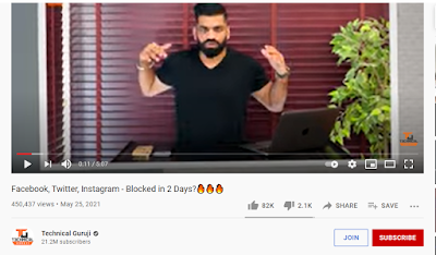Facebook twitter instagram banned technical Guruji