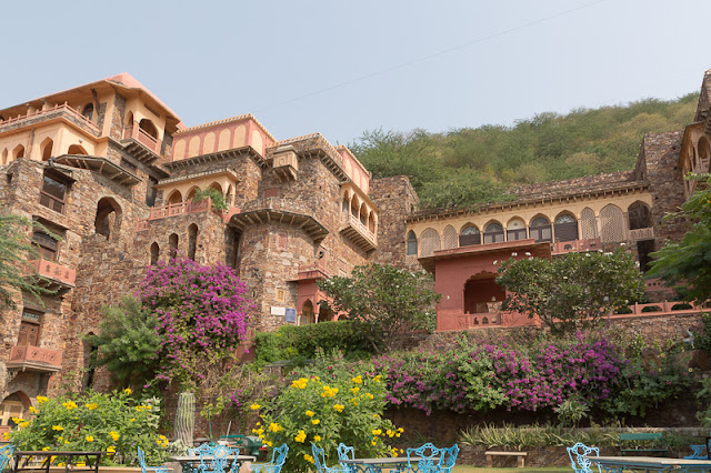 Neemrana Fort Palace View in Rajasthan India