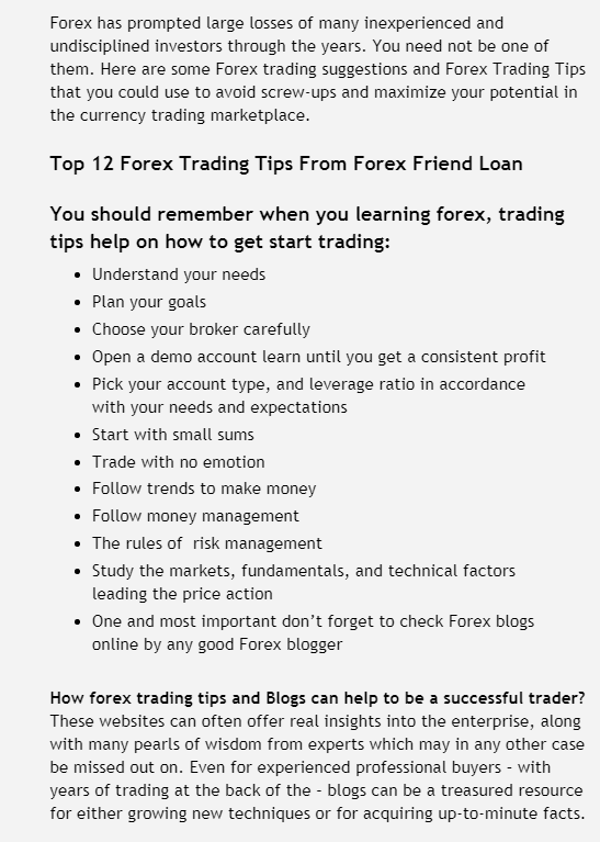 Forex buying and selling tips