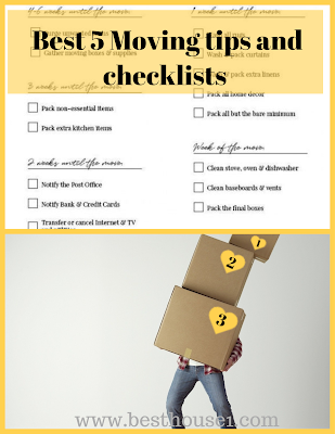 Best 5 Moving tips and checklists