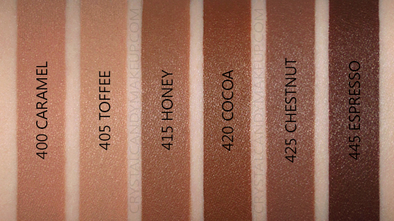 L'OrEal Infallible Full Wear More Than Concealer Swatches 400 405 415 420 425 445 MAC NW40 NC45 NC50 NW45 NC60
