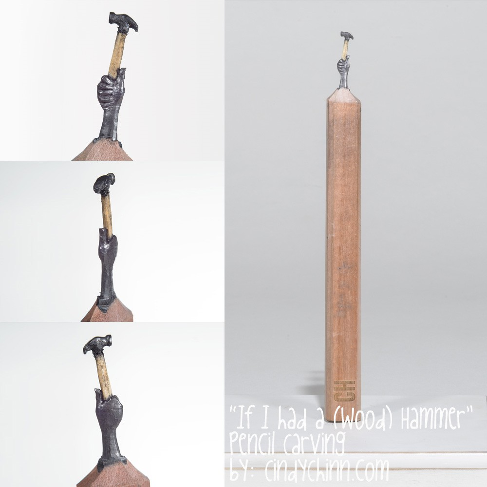 07-Hand-and-Hammer-Cindy-Chinn-Miniature-Carvings-of-Pencil-Graphite-www-designstack-co