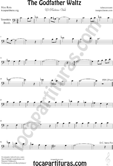 Sheet Music for Trombone, Tube, Euphonium Music Scores (Tuba and Contrabass in 8ª down)