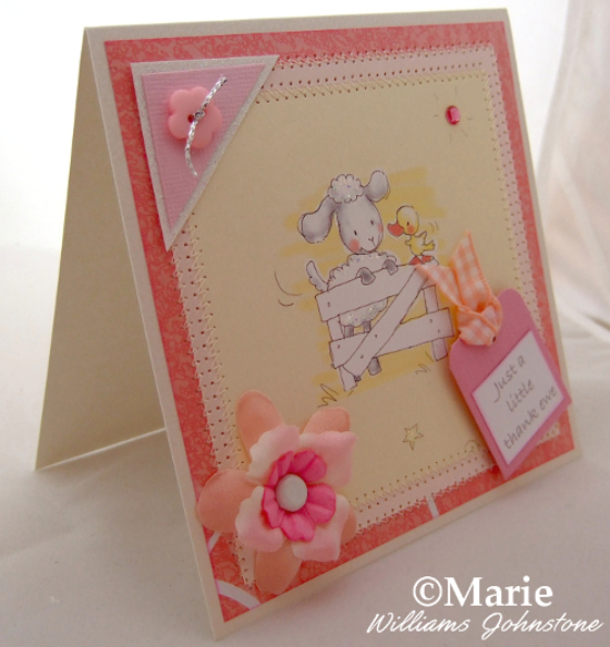 just a little thank you ewe sheep lamb spring card design