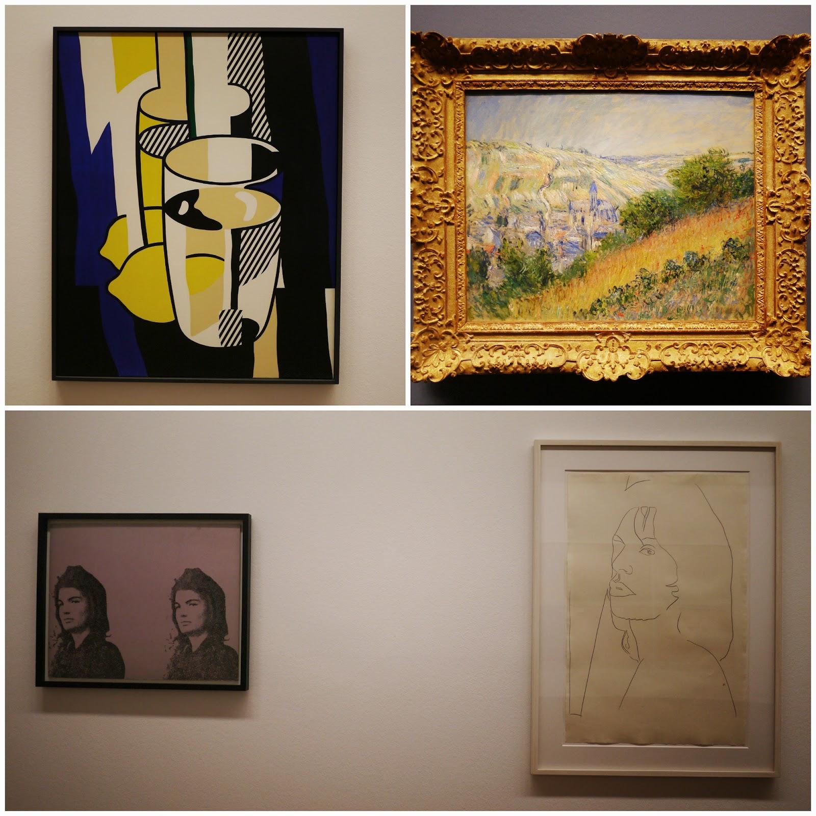Albertina vienna monet lichtenstein and warhol paintings