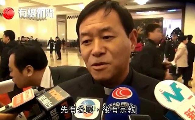 Fang Jianping, bispo excomungado que aguarda favorecimento da Ostpolitik. Fiéis reprovam seu cinismo.