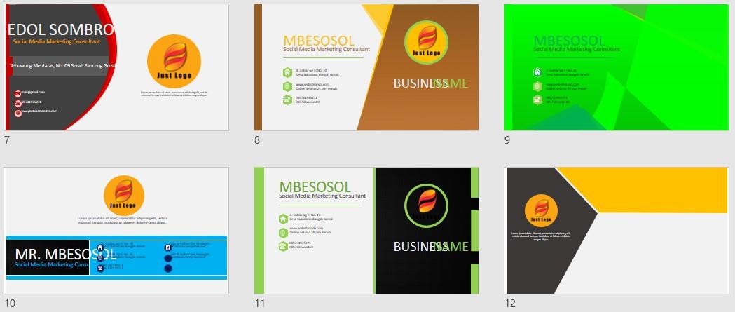 Download 33 Desain ID Card PowerPoint gratiss