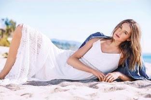 Next, Abercrombie & Fitch White maxi dress