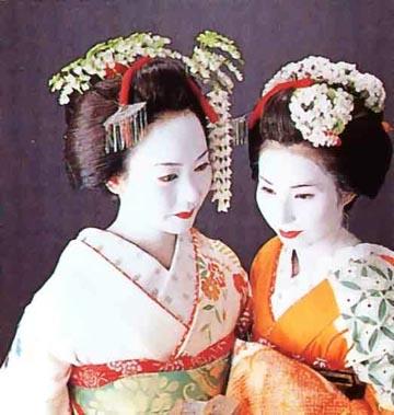 Gion Kobu Geisha Und Maiko Haarstile Teil 1