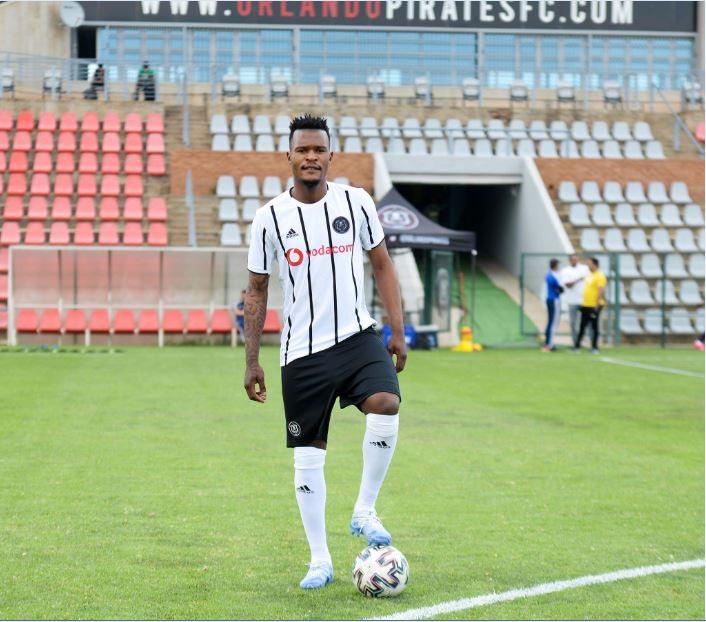 Orlando Pirates midfielder Nkanyiso Zungu