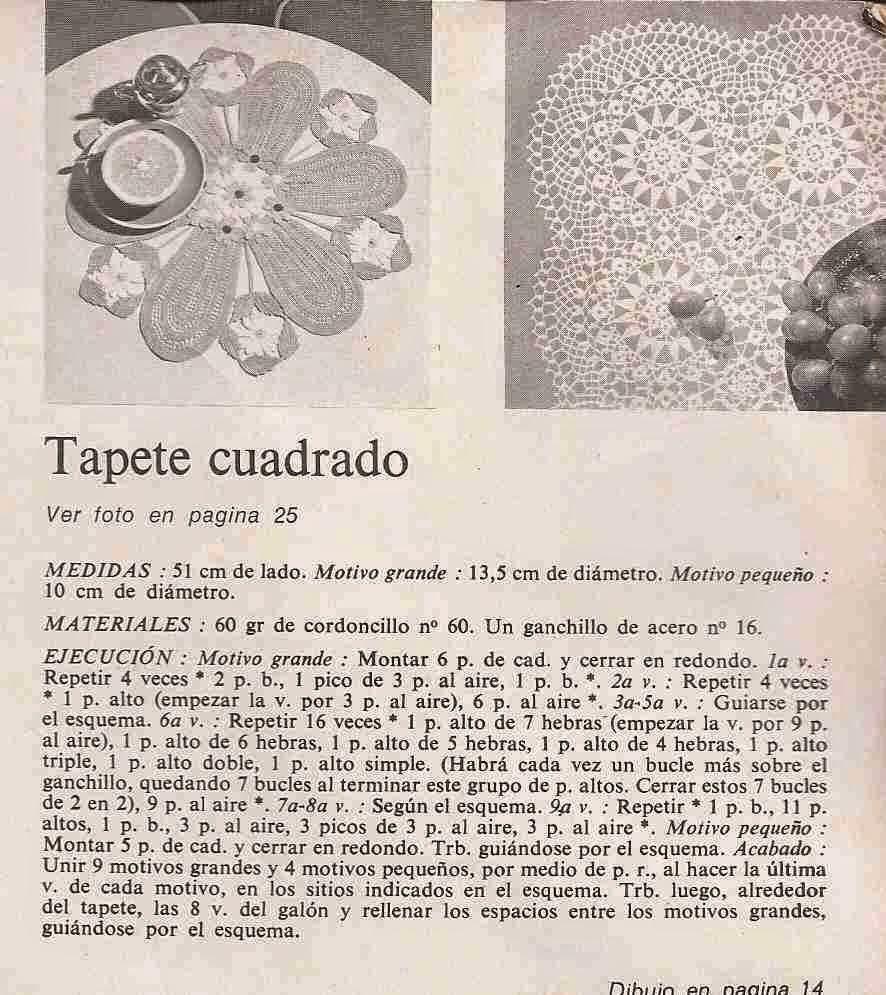 Instrucciones de Tapete