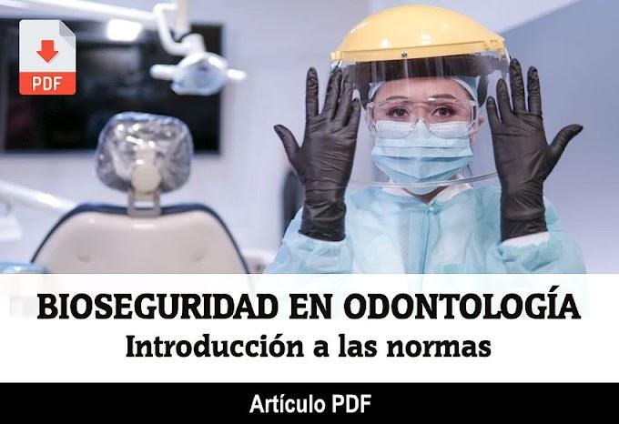 PDF: Introducción a las normas de Bioseguridad en Odontología