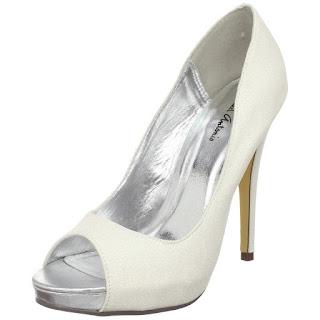 white glitter heels shoe