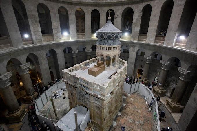 MUNDO! Santo Sepulcro: restauração do túmulo de Jesus Cristo é concluída