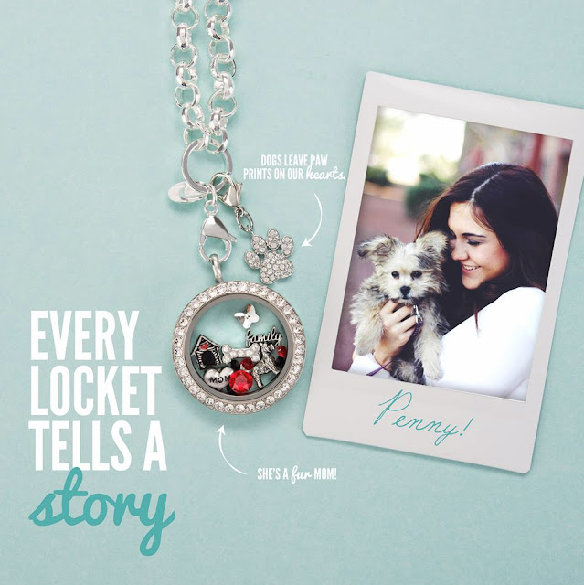 Fur Baby Origami Owl Living Locket available at StoriedCharms.com