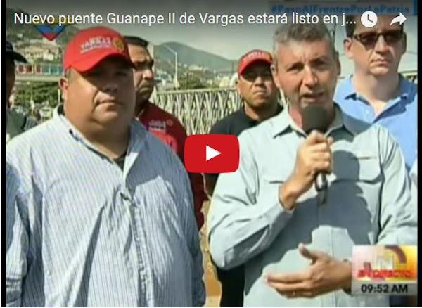 Hoy colocaron la primera piedra del nuevo puente de Guanape