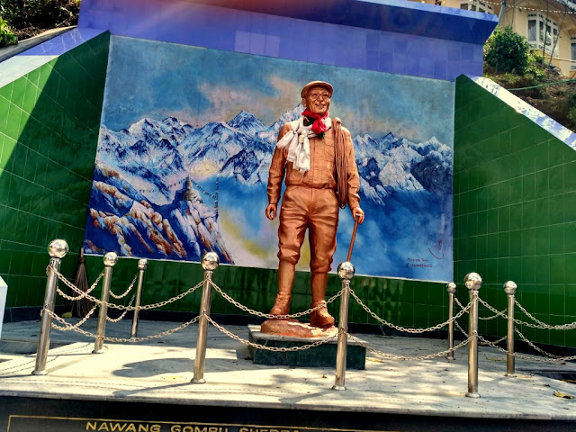 Statue of Nawang Gombu Sherpa near Governor House, Darjeeling