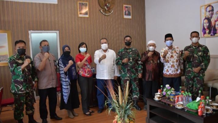 Kapendam Hasanuddin  Kunjungan Silahturahmi di RRI Makassar