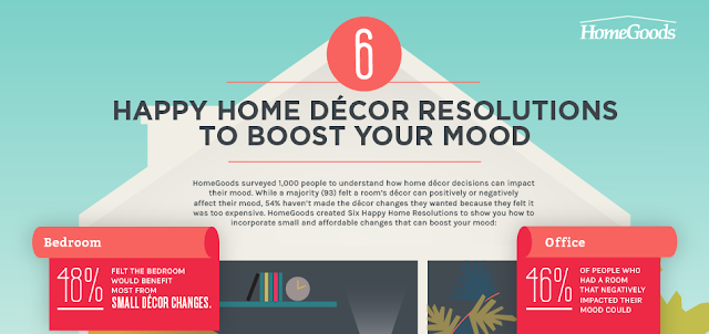6 Happy Home Decor Resolutions to Boost Your Mood  #Infographic