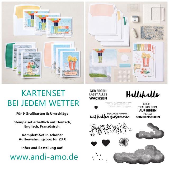 Stampin Up Kartenset Bei jedem Wetter Produkt-Linie