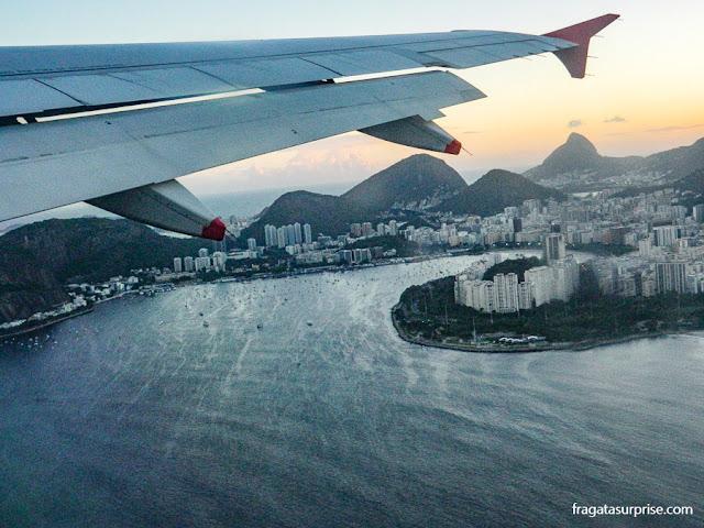Vista aérea do bairro de Botafogo, Rio de Janeiro