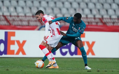 ملخص واهداف مباراة ميلان والنجم الاحمر (2-2) الدوري الاوروبي