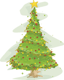 Clipart image of a Christmas tree