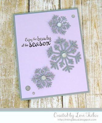 The Beauty of the Season card-designed by Lori Tecler/Inking Aloud-stamps and dies from Lil' Inker Designs